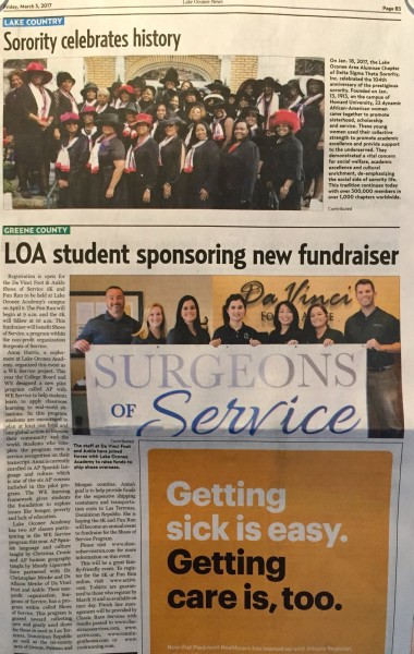 Surgeons Of Service: In the News!